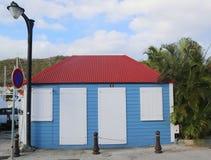 Casa tradicional velha em Gustavia em St Barts Fotos de Stock