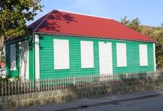 Casa tradicional velha em Gustavia em St Barts Foto de Stock