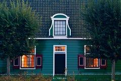 Casa traditonial vieja en el Zaanse holandés Schans Foto de archivo libre de regalías