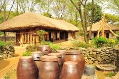 Casa tradizionale coreana del villaggio Fotografia Stock