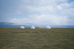 Casa tradizionale dei nomadi fotografie stock libere da diritti