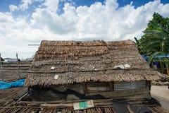 Casa tradizionale dell'isola del Belitung sul lato 1 della spiaggia Immagine Stock Libera da Diritti