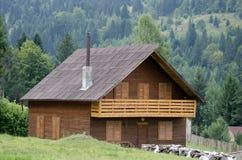 Casa tradizionale della montagna Immagini Stock Libere da Diritti