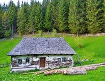 Casa tradizionale della montagna Fotografie Stock