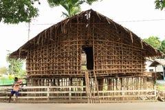 Casa tradizionale di Papuan Fotografia Stock