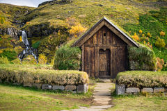 Casa tradizionale di vichingo Fotografia Stock