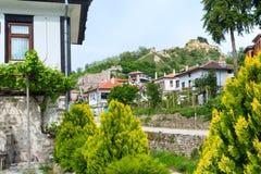 Casa tradizionale nella città di Melnik, Bulgaria fotografie stock libere da diritti