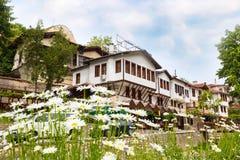 Casa tradizionale nella città di Melnik, Bulgaria immagine stock libera da diritti