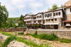 Casa tradizionale nella città di Melnik, Bulgaria fotografie stock