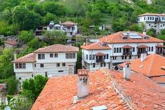 Casa tradizionale nella città di Melnik, Bulgaria immagini stock libere da diritti