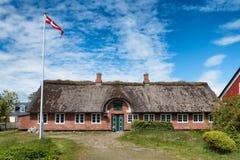 Casa tradizionale in Nordby su Fano Danimarca Fotografia Stock