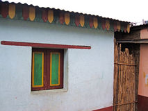 Casa tradizionale tropicale del villaggio Fotografia Stock Libera da Diritti