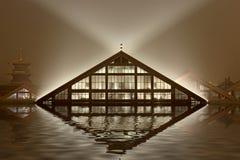 Casa triangular Imagen de archivo libre de regalías