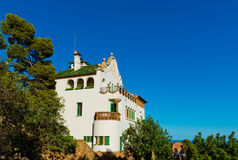 Casa Trias, Park Güell, Barcelona, Royalty Free Stock Photography