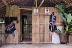 Casa tribale tailandese locale nella parte superiore di Tailandia fotografia stock