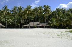 Casa tropical en la playa Imagen de archivo libre de regalías