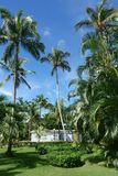 Casa tropical y paisaje foto de archivo libre de regalías