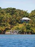 Casa tropicale nel del Toro di Bocas Fotografie Stock Libere da Diritti