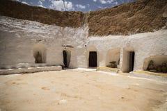 Casa Tunísia da caverna Imagem de Stock Royalty Free