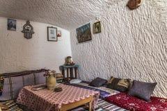 Casa Tunísia da caverna Fotos de Stock Royalty Free