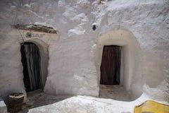 Casa Tunísia da caverna Imagens de Stock
