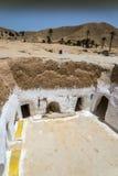 Casa Tunísia da caverna Foto de Stock