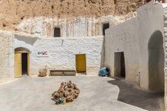 Casa Tunísia da caverna Fotografia de Stock
