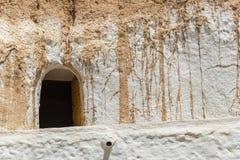 Casa Tunísia da caverna Foto de Stock Royalty Free