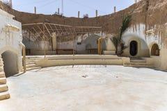 Casa Tunísia da caverna Fotos de Stock