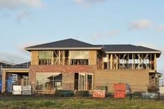 Casa Two-storey costruita Immagine Stock