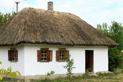 Casa ucraina del villaggio Fotografia Stock Libera da Diritti