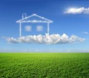 A casa, um sonho. Fotos de Stock Royalty Free