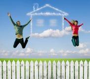 A casa, um sonho. Fotografia de Stock Royalty Free