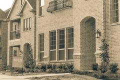 A casa unifamiliar destacada recentemente construída vendeu para fora em América Imagem de Stock Royalty Free