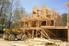 Casa urbana bajo construcción Foto de archivo libre de regalías
