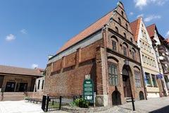 Casa urbana de comerciantes Imágenes de archivo libres de regalías