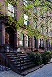 Casa urbana del Brownstone Fotografia Stock Libera da Diritti