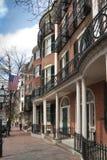 Casa urbana del victorian del ladrillo de Boston Fotografía de archivo