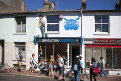 Casa urbana inglesa típica en Brighton Foto de archivo libre de regalías