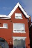 Casa urbana Roja-bricked en Toronto céntrico Imágenes de archivo libres de regalías