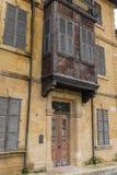 Casa urbana tradizionale dell'ottomano, Nicosia, Cipro Fotografie Stock Libere da Diritti