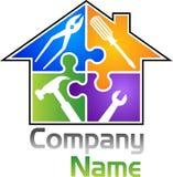 A casa utiliza ferramentas o logotipo Imagens de Stock