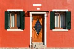 Casa variopinta in Burano Immagini Stock Libere da Diritti