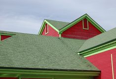 Casa variopinta di legno Fotografia Stock Libera da Diritti