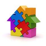 Casa variopinta di puzzle Fotografia Stock