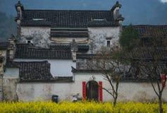 Casa velha antiga da vila com cultura chinesa tradicional, anhui, huizhou, China fotos de stock royalty free