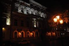 Casa velha arquitetura na noite Foto de Stock Royalty Free