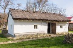 Casa velha - cabana, exibição do casa-museu na memória do grande poeta do russo da estada Ta do MEU Lermontov Fotos de Stock Royalty Free
