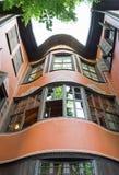 Casa velha com as janelas de madeira em Plovdiv Fotos de Stock
