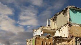 Casa velha da demolição Moscovo, Rússia vídeos de arquivo